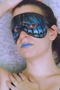 Red Spotted Purple Butterfly Mask