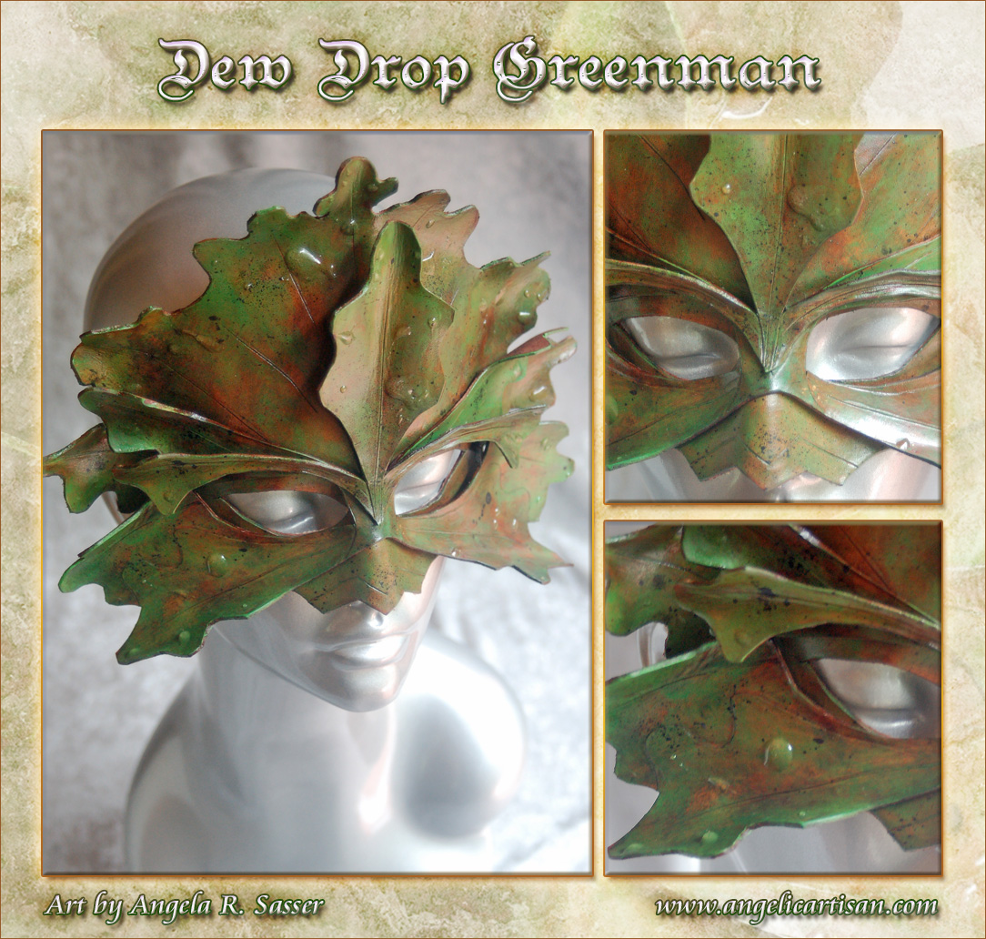 Dew Drop Greenman Mask