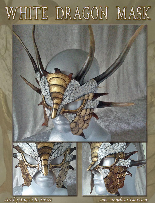 White Horned Dragon Mask