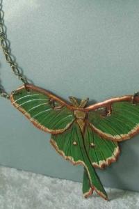 Luna Moth Chain Necklace