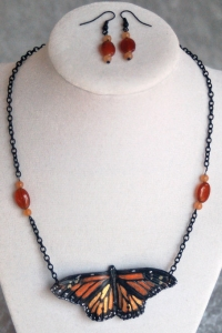 Monarch in Chains Necklace