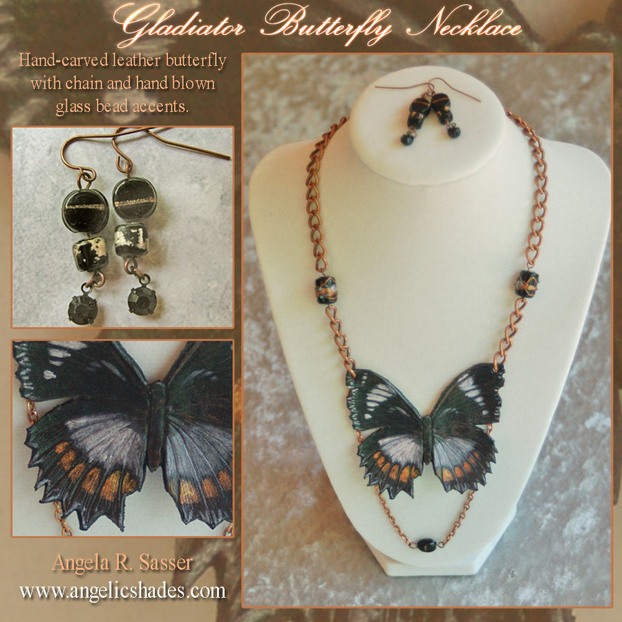 Gladiator Butterfly Necklace