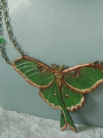 Luna Moth Chain Necklace
